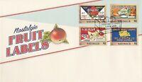 AFD1136) Australia 2016 Nostalgic Fruit Labels set. Price: $6.00