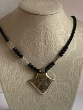 vintage Necklace Tribal Berber Jewelry handmade Traditional Tuareg Black Beads