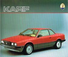MASERATI KARIF prospetto, 1988