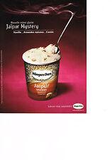 PUBLICITE ADVERTISING  2002   HAAGEN-DAZS   glace JAIPUR MYSTERY