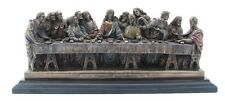 Veronese Bronze Figurine Da Vinci Last Supper Christmas Statue Gift Home Decor