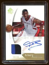 TRACY McGRADY 2005 SP AUTHENTIC AUTO PATCH /25 GOLD ONCARD AUTO EXTRA LIMITED