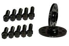 10MM Wheel Spacers BLACK 5x100 5x112 + CONICAL SEAT BOLTS for VW JETTA GOLF
