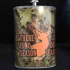 "NEW Evergreen Mossy Oak ""Deer Season"" Freezable Insulated Flask 5 oz  Great gift"