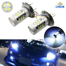 2PCS 8000K Light-Blue 80W CREE  H7 LED Bulbs For Hyundai On High Beam DRL Lights