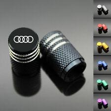 4PCS Chrome Car Wheel Tyre Tire Air Valve Caps Stem Cover With Audi Emblem
