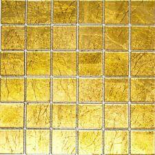 GOLD Translucent Mosaic tile GLASS WALL Bath&Kitchen Splashback 120-0786|10sheet
