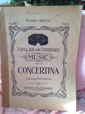 "Henry Silberhorn Concertina ""Prazsky Sirotek"" Sheet Music Antique No. 5100"