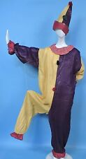ANTIQUE 1920'S GLAZED COTTON CLOWN HALLOWEEN PARADE COSTUME FOR DRESS