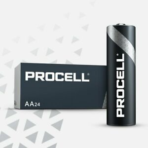 48 NEW DURACELL PROCELL AA Alkaline Batteries !! Exp 2025