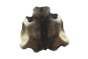 Cowhide Rug Grey Brown 3x3ft Hair on Area Rug Gray cow skin leather Rug Sale