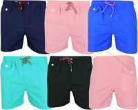Mens Boys Summer Plain Beach Shorts Surf Board Swim Shorts Trunks Swimwear S-XL