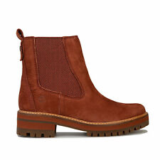 Womens Timberland Courmayeur Valley Chelsea Boots In Smoked Paprika- Premium
