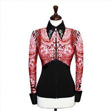 Medium Showmanship Pleasure Horsemanship Show Jacket Shirt Rodeo Queen Rail Top