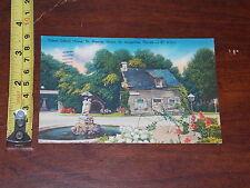 POSTCARD RARE VINTAGE OLDEST SCHOOL HOUSE ST GEORGE STREET ST AUGUSTINE FLORIDA
