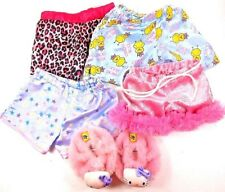 Build Bear Workshop 4 Pair Girl's Pajama Bottoms & 1 Pair Hello Kitty Slippers