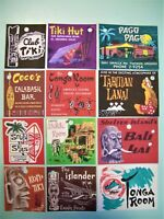 50 pack/100 pack Tags Cards or Stickers - Vintage 1940s 1950s Tiki Hawaiian Hula