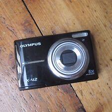 Olympus X-X-42 12.0MP Series Fotocamera digitale-nero lavorare GRATIS UK P + P