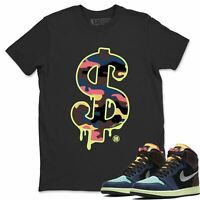 AJ 1 Retro Bio Hack Sneaker Matching Tees and Outfit Dollar Camo T Shirt