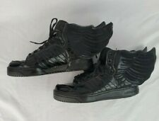 Rare Adidas Jeremy Scott Wings 2.0 All Black Patent Leather  Size 6 US Mens