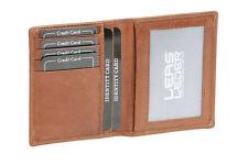 Ausweis- und Kreditkartenhülle LEAS in Echt-Leder, cognac