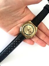 Vintage Seiko 7006-7109 Automatic Men's Wrist Watch Emerald Circle Dial Works