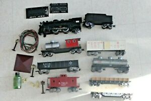 Marx Steam set 666 Engine Tender Caboose  cars Lot