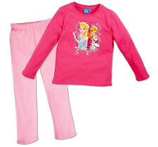 Frozen Die Eiskönigin Anna Elsa Mädchen Schlafanzug 110-140 Pink 100%25 Baumwolle