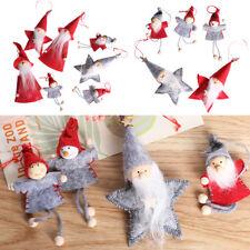 Navidad Muñeca de tela colgante mini adornos de madera para árboles de navidad.