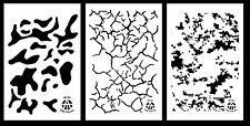 "3Pack! Vinyl Airbrush Camo Stencils 10 Mil 14x9"" Cracked Earth Multicam Digital"