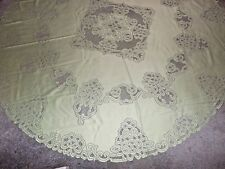 New Pear Battenberg lace design Tablecloth  70 round