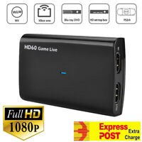 USB HDMI Video Capture Card 4K 30P/1080P 60fps Game Video Record Live Streaming