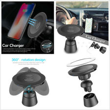 Car Air Vent Mount Magnetic Holder Wireless Charging For iPhone X Samsung S8 S9