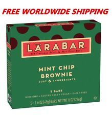 Larabar Mint Chip Brownie Bars Gluten Free 5 CT 8 Oz FREE WORLD SHIPPING