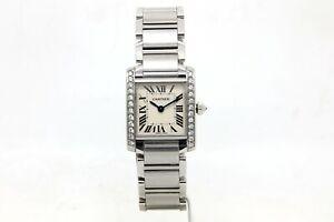 Cartier Tank Francaise Diamond Set Ladies Steel Bracelet Watch, Ref, 2384