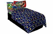 SFK Nintendo Super Mario Trifecta Fun Sheet Set Twin bedroom nursery room bed