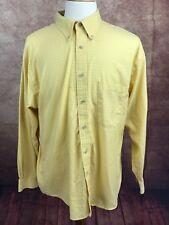 Pendleton Button Down 100% Brushed Cotton L/S Yellow Check Shirt Men's XL