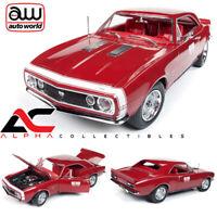 AUTOWORLD AMM1163 1:18 1967 CHEVROLET CAMARO SS TEST CAR RED