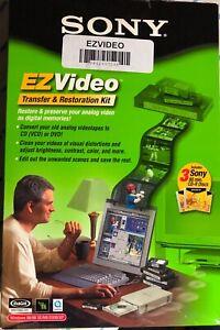 SONY EZ VIDEO TRANSFER & RESTORATION KIT 3 SONY 80 Min. CD-R Discs NEW