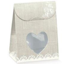 10 Sacchetti bomboniera porta confetti cuore per bomboniera made in italy