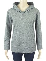 Ex M&S Grey Long Sleeved Jersey Casual Hooded Sweatshirt Size 10 - 24