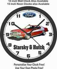 Ford Torino Starsky & Hutch Wall Clock-Free Usa Ship!