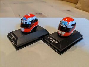 Minichamps 1/8  F1 Herbert 1995 & 1996  Helmet 2 sets  n/Schumacher Senna