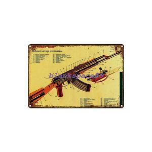 Metal Tin Sign AK-47  Decor Bar Pub Home Vintage Retro Poster