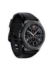Samsung Galaxy Gear S3 Frontier Smartwatch SM-R760 Fitnesstraker Dark Grey ~ NEU
