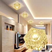 Modern LED Crystal Ceiling Light Fixture Aisle Hallway Pendant Lamp Chandelier