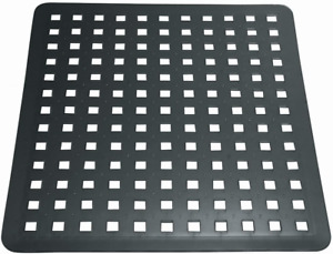 iDesign 36660 Sink Mat for Sink Protection, Large PVC Plastic Sink Drainer Mat