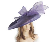 Dark Purple Large Ascot Hat for Weddings, Ascot, Derby B7