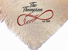 Personalized Embroidered Afghan Throw Blanket ~ Family Love Throw  ~