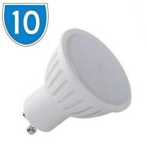 10x LED GU10 Cool White 5300K 300lm Downlight Spot Light Bulb 4W = 28w 25w 30w